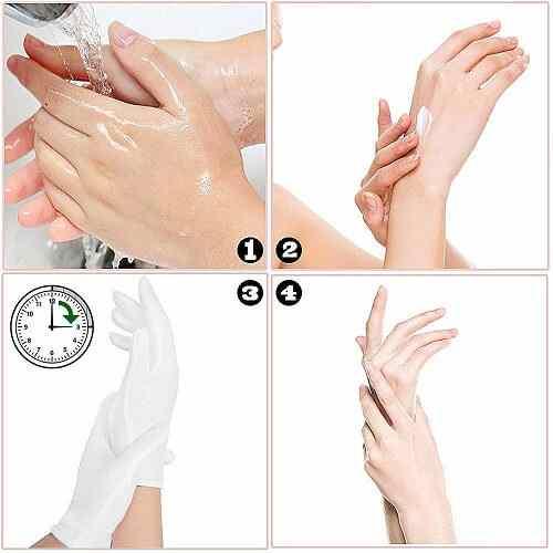 Guantes de algodon para dormir especial crema manos