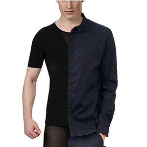 Camiseta compresora para caballero invisible de algodón