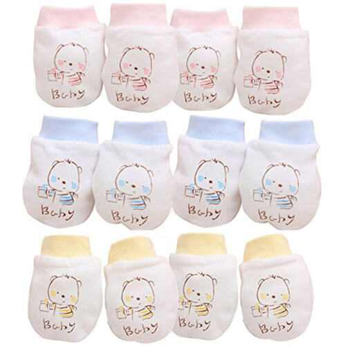 Mitones de algodón para recién nacido