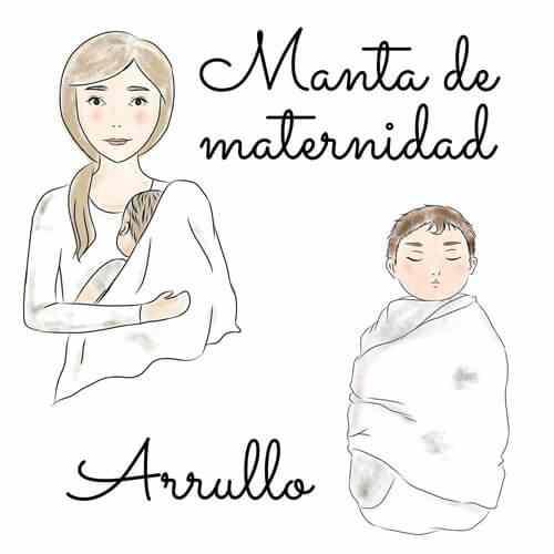 Las gasas de algodón se usan como manta y Arrullo de maternidad