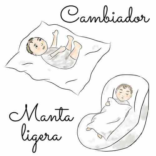 Util las gasas de tela como cambiador y manta ligera para bebes