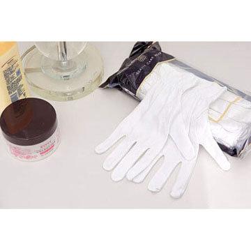 Guantes de algodon para aplicar crema de manos por la noche