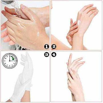 4 sencillos pasos para dormir con guantes de algodón