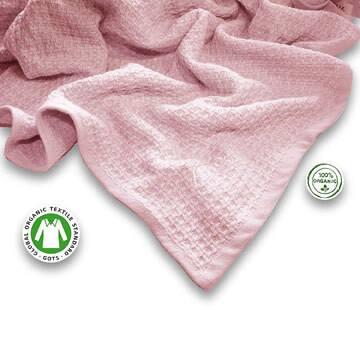 Manta de algodón orgánico para recién nacido