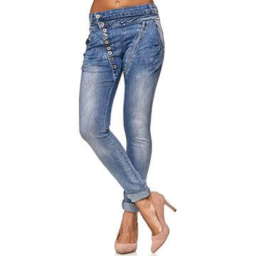 Vaqueros 100 algodón para mujer cintura baja
