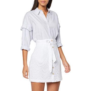 Falda corta de algodón 100 por 100 para chica joven
