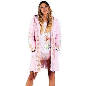 Parka de algodón 100 color rosa para mujer