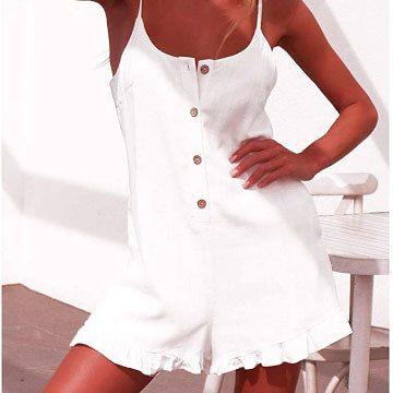 Peto de algodón para mujer color blanco para outfit 100 por 100 actual