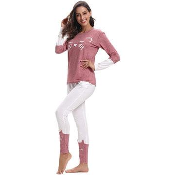 Pijamas de mujer de algodon 100 por 100 diseño de gato