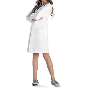 Bata blanca de laboratorio para niña