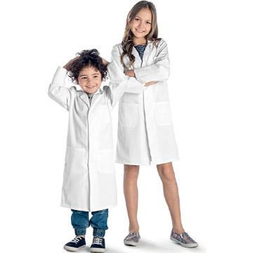 Batas blancas de laboratorio científico niño y niña